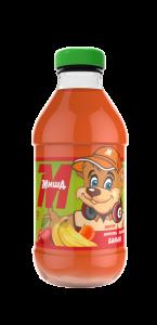 Сок со вкусом моркови, яблока и банана